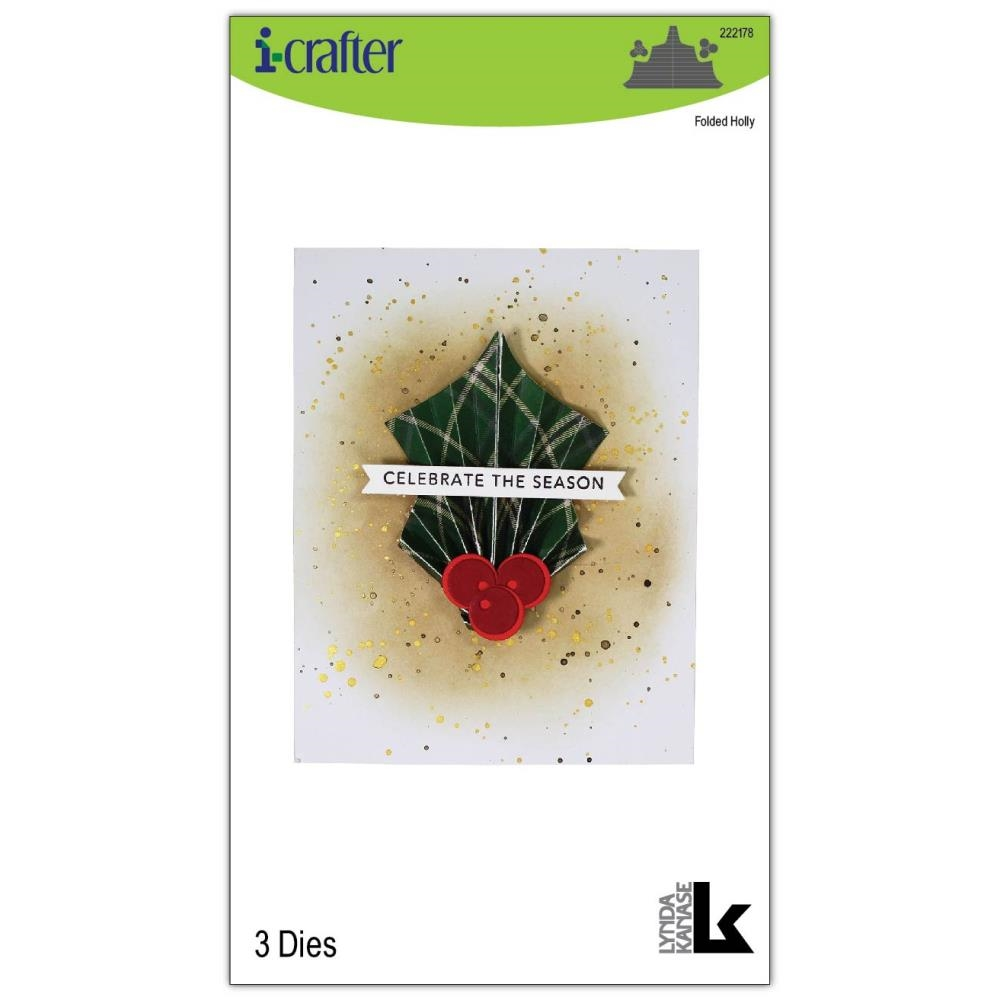 i-Crafter FOLDED HOLLY Dies 222178 zoom image