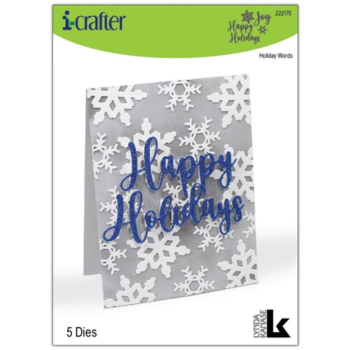 i-Crafter HOLIDAY WORDS Dies 222175 Preview Image