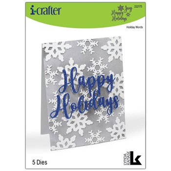 i-Crafter HOLIDAY WORDS Dies 222175