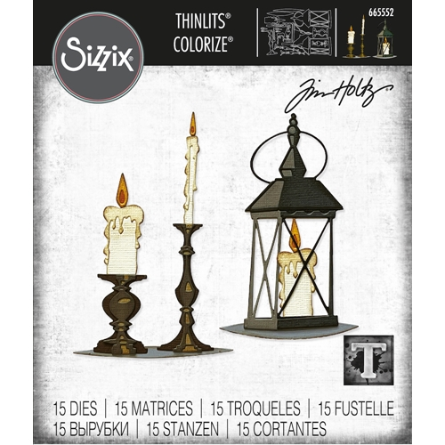 Tim Holtz Sizzix CANDLELIGHT Colorize Thinlits Dies 665552 Preview Image