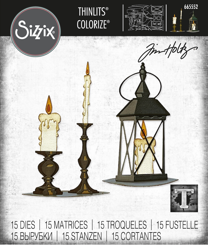 Tim Holtz Sizzix CANDLELIGHT Colorize Thinlits Dies 665552 zoom image