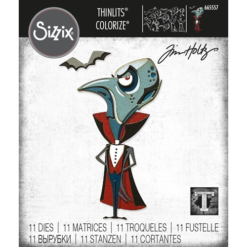 Tim Holtz Sizzix THE COUNT Colorize Thinlits Dies 665557 Preview Image