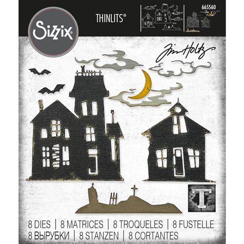Tim Holtz Sizzix GHOST TOWN 2 Thinlits Dies 665560 Preview Image
