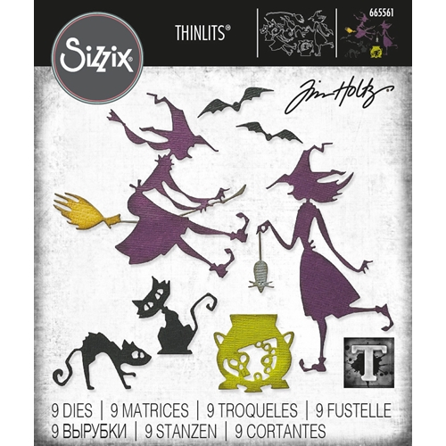 Tim Holtz Sizzix TOIL AND TROUBLE Thinlits Dies 665561 Preview Image