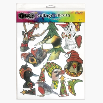 Ranger Dylusions Collage Sheets CHRISTMAS dya76933