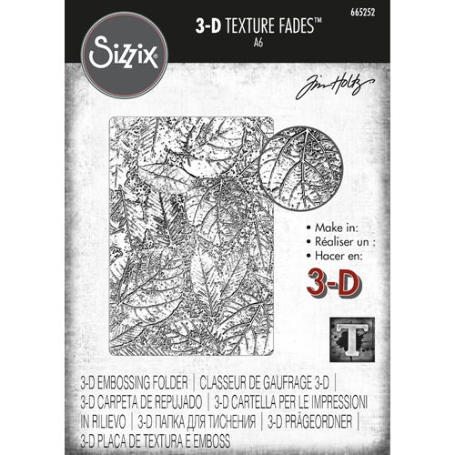 Tim Holtz Sizzix FOLIAGE Texture Fades Embossing Folder 665252 Preview Image