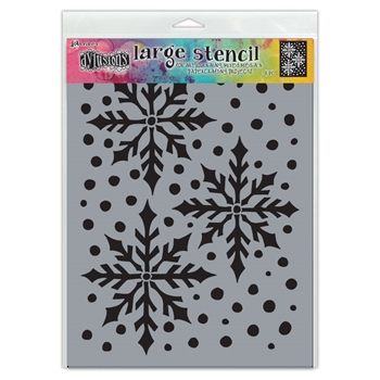 Dyan Reaveley Stencil 9 x 12 ICE QUEEN Dylusions Ranger dys78029