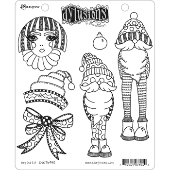 Dyan Reaveley ANY OLD ELF Cling Stamp Set Dylusions dyr76940