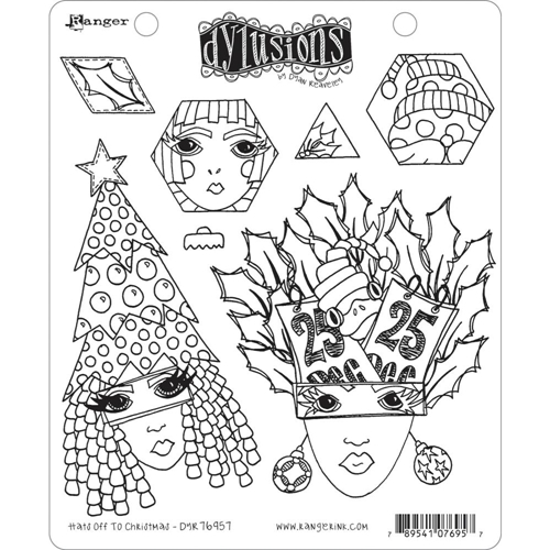 Dyan Reaveley HATS OFF TO CHRISTMAS Cling Stamp Set Dylusions dyr76957 Preview Image