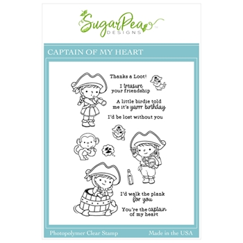 SugarPea Designs CAPTAIN OF MY HEART Clear Stamp Set spd00526