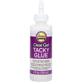 Aleene's CLEAR GEL TACKY GLUE 4oz Adhesive