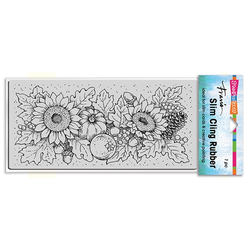 Stampendous Cling Stamp SLIM FALL SUNFLOWERS csl13 Preview Image
