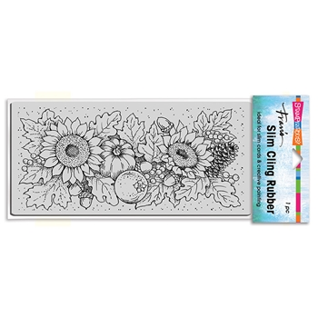 Stampendous Cling Stamp SLIM FALL SUNFLOWERS csl13