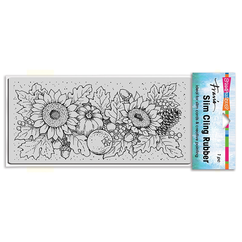 Stampendous Cling Stamp SLIM FALL SUNFLOWERS csl13 zoom image