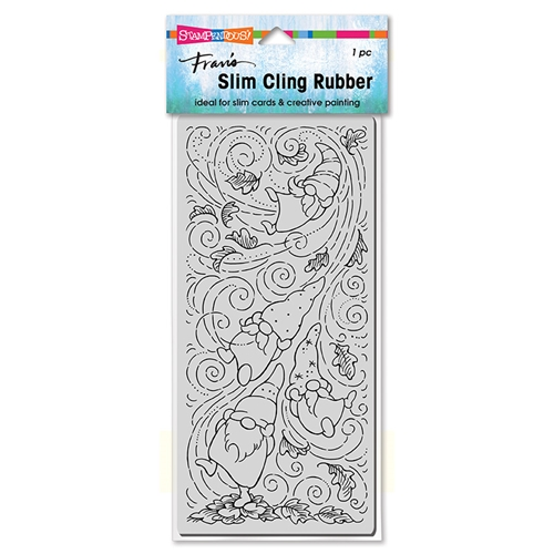 Stampendous Cling Stamp SLIM AUTUMN GNOMES csl14 Preview Image