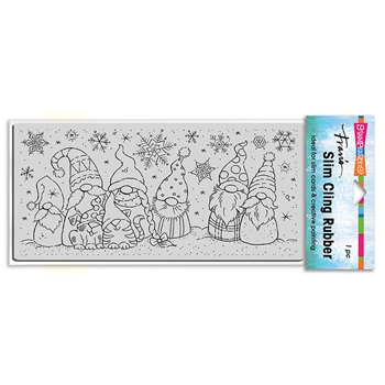 Stampendous Cling Stamp SLIM WINTER GNOMES csl18