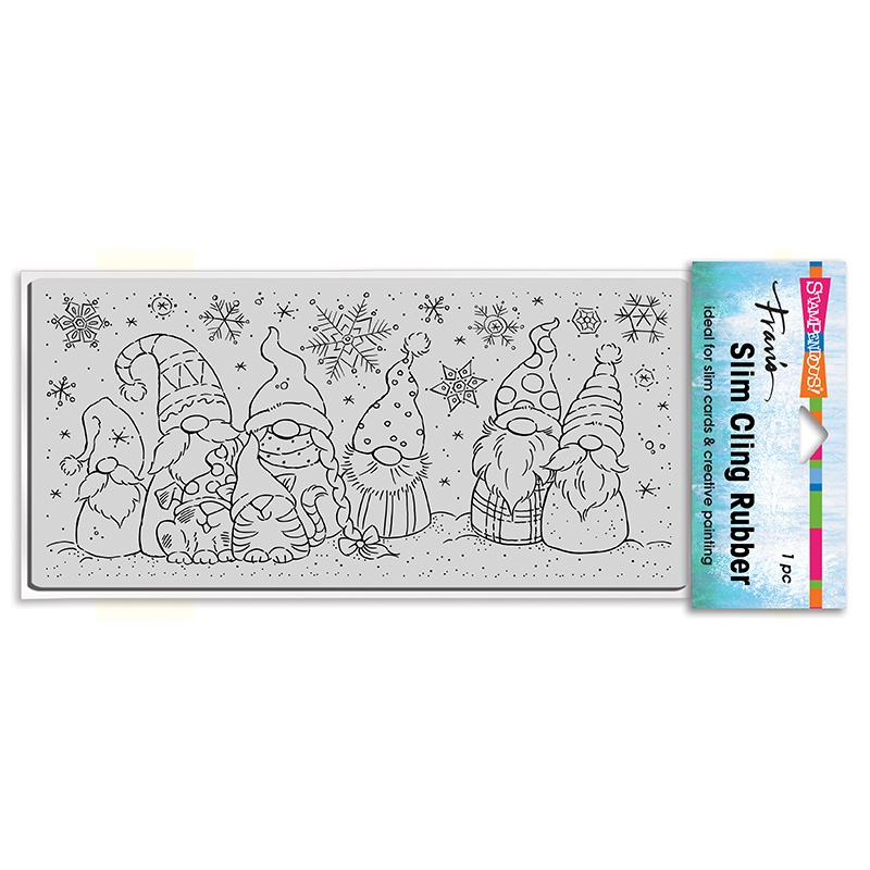 Stampendous Cling Stamp SLIM WINTER GNOMES csl18 zoom image