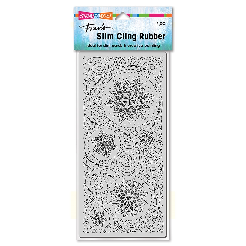 Stampendous Cling Stamp SLIM SNOWFLAKE WISHES csl19 zoom image