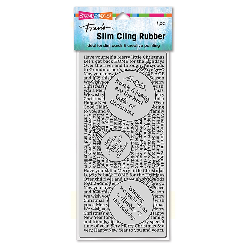 Stampendous Cling Stamp SLIM ORNAMENT TEXT csl20 zoom image