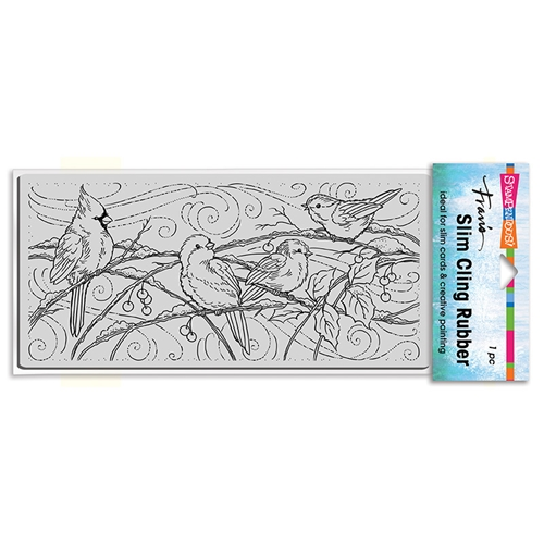 Stampendous Cling Stamp SLIM SNOWY BIRDS csl21 Preview Image