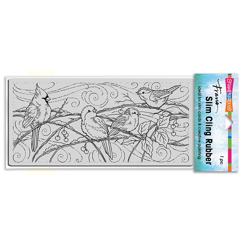 Stampendous Cling Stamp SLIM SNOWY BIRDS csl21 zoom image