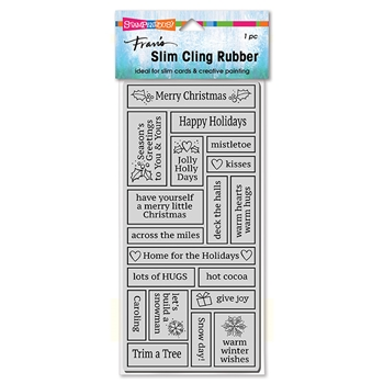 Stampendous Cling Stamp SLIM BOXED HOLIDAY csl22