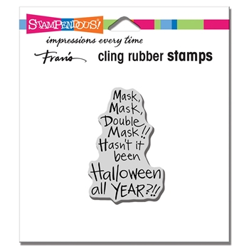 Stampendous Cling Stamp DOUBLE MASK crh336