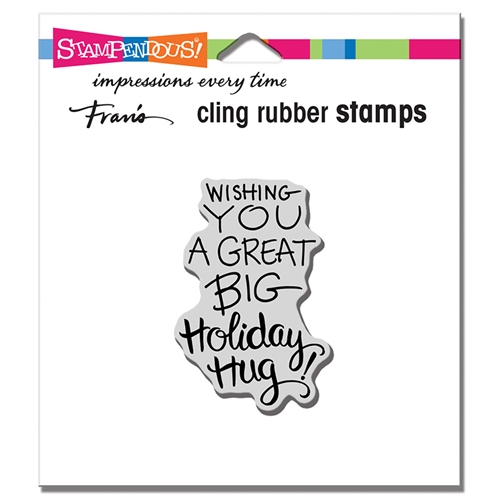 Stampendous Cling Stamp HOLIDAY HUG crh338 Preview Image