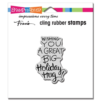 Stampendous Cling Stamp HOLIDAY HUG crh338