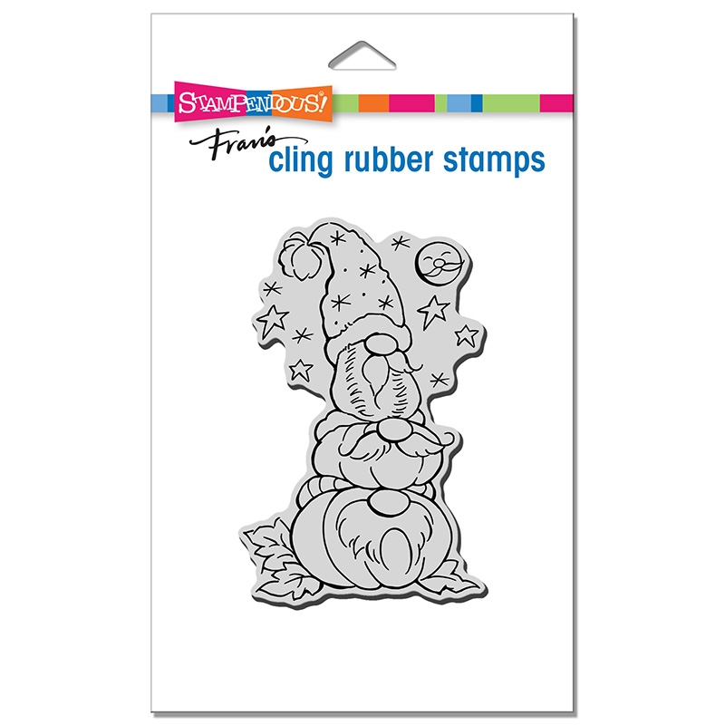 Stampendous Cling Stamp GNOME PATCH crp370 zoom image