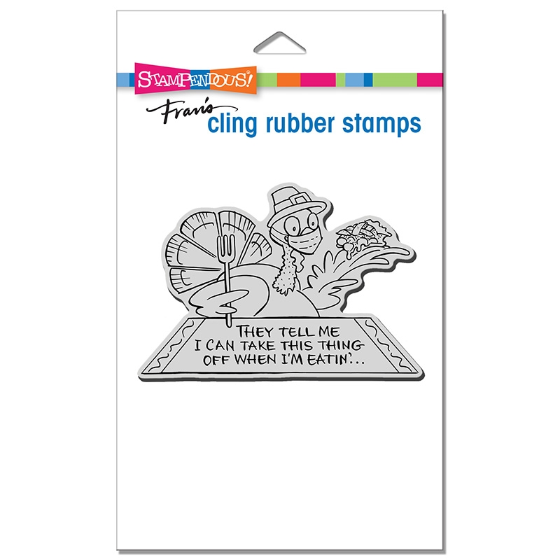Stampendous Cling Stamp MASKED TURKEY crp372 zoom image