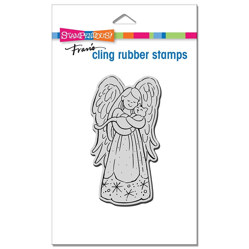 Stampendous Cling Stamp PURRFECT ANGEL crp379 zoom image