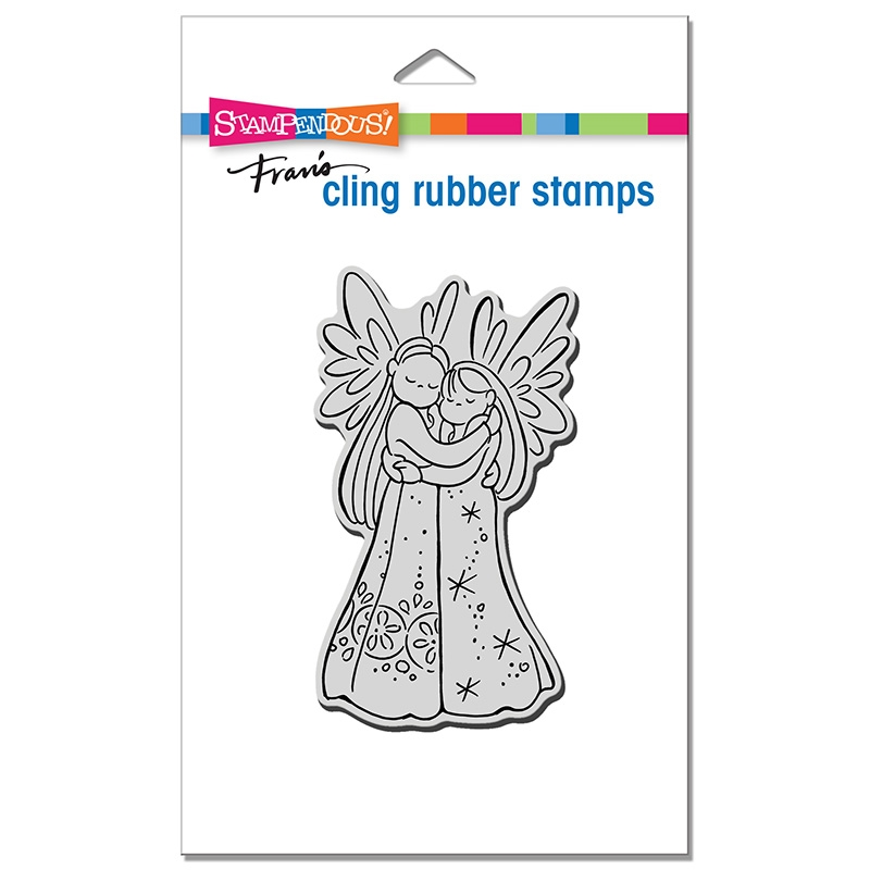 Stampendous Cling Stamp ANGEL HUGS crp380 zoom image