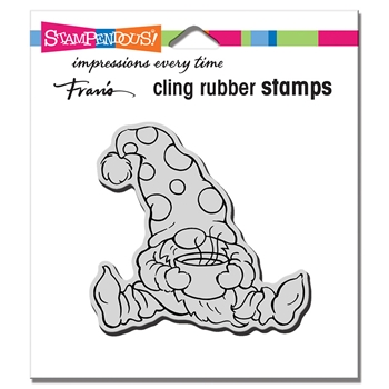 Stampendous Cling Stamp COCOA GNOME crq257