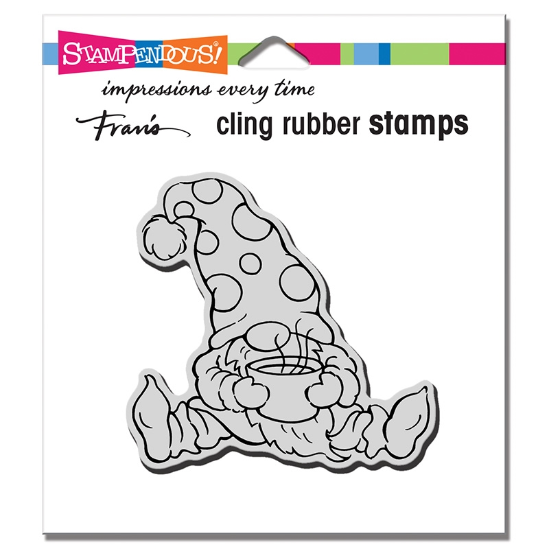 Stampendous Cling Stamp COCOA GNOME crq257 zoom image