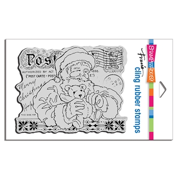 Stampendous Cling Stamp SANTA'S TEDDY crr339