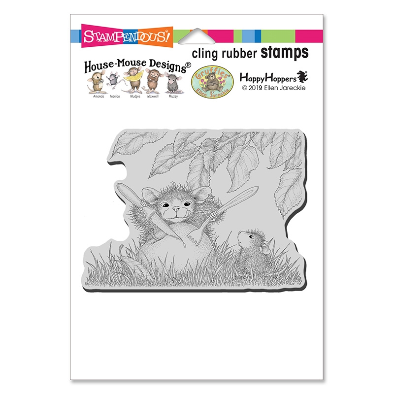 House Mouse Apple Snack Cling Stamp