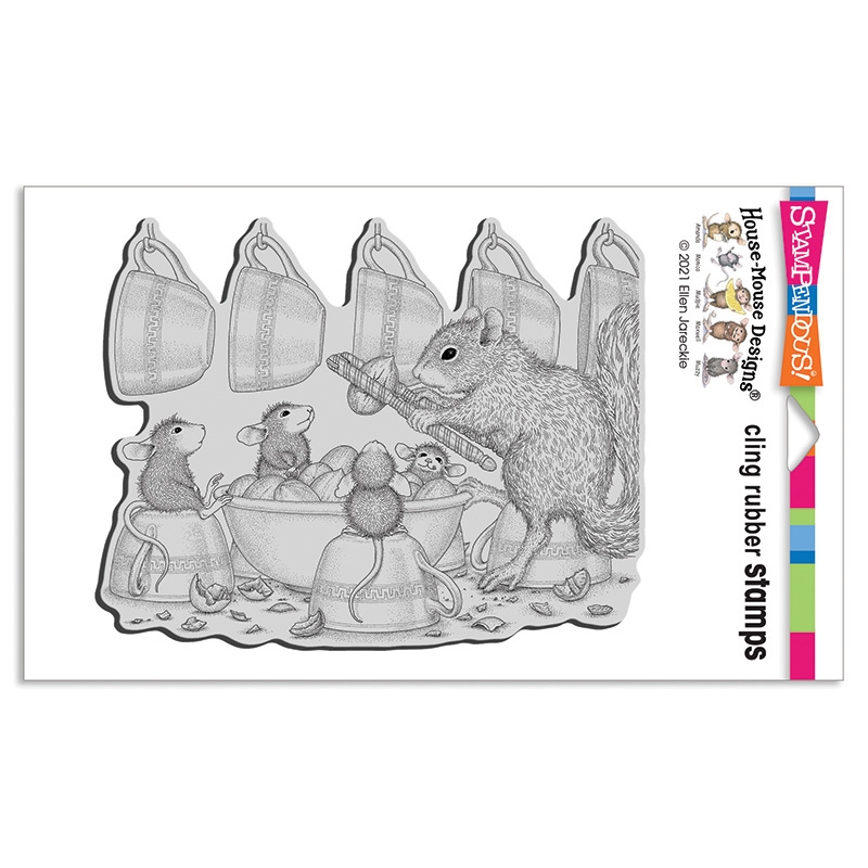 Stampendous, House Mouse Nut Cracker Cling Stamp