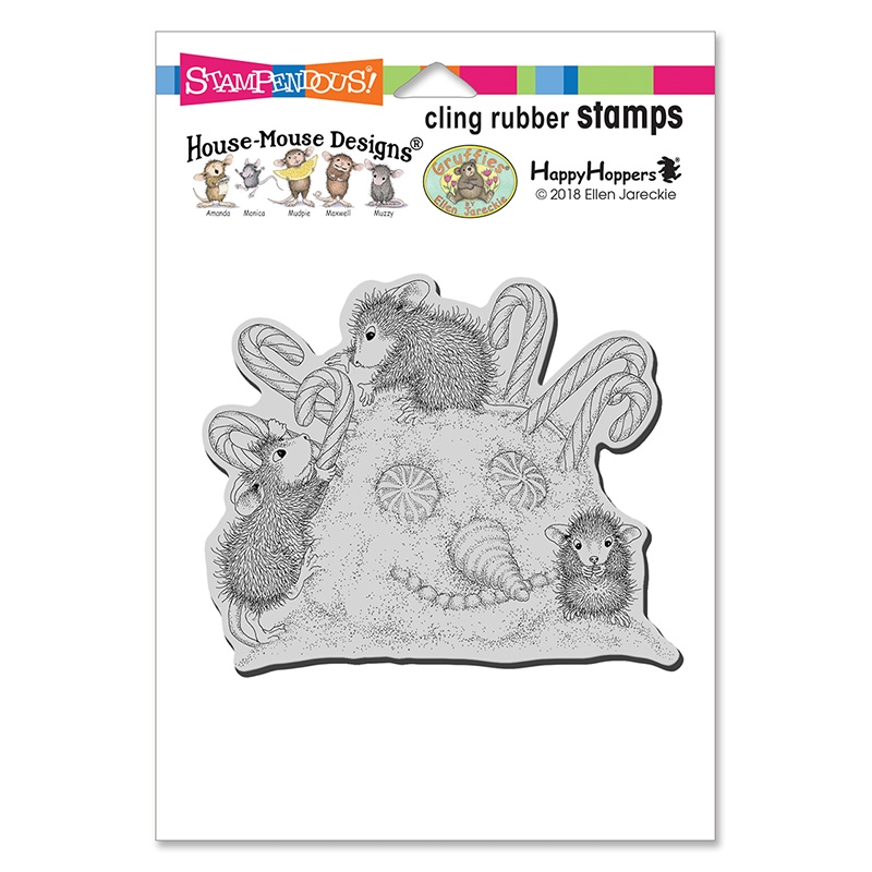 Stampendous, House Mouse, Peppermint Hair Cling Stamp