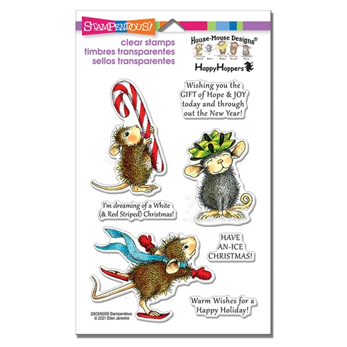 Stampendous, House Mouse  Holiday Happy Clear Stamp Set