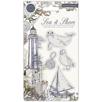 Craft Consortium SEA AND SHORE Clear Stamps CCSTMP063