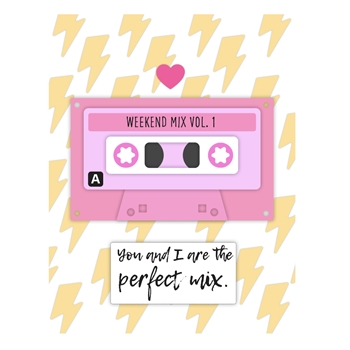 Maker's Movement PERFECT MIX CASSETTE TAPE Clear Stamp and Die Set m12418