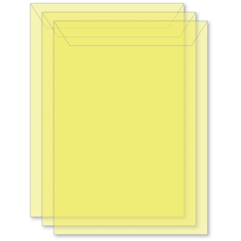 Memory Box LARGE STORAGE POUCH DAFFODIL Pack of 50 sb1013*
