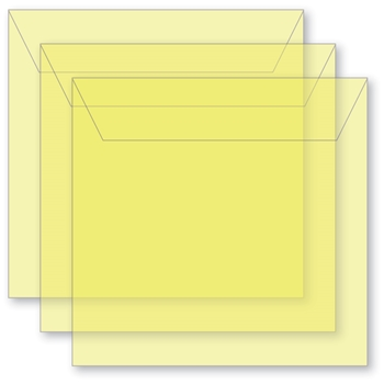 Memory Box SMALL STORAGE POUCH DAFFODIL Pack of 50 sb1015