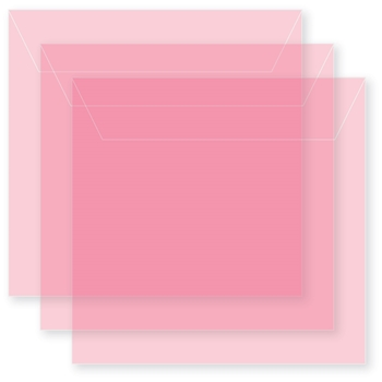 Memory Box SMALL STORAGE POUCH PETAL PINK Pack of 50 sb1018