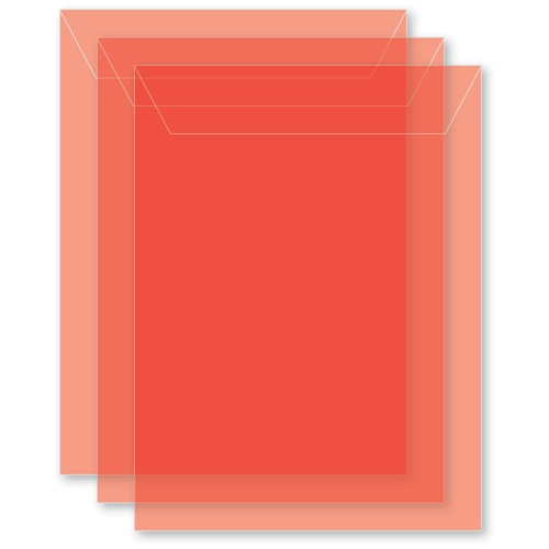 Memory Box MEDIUM STORAGE POUCH POPPY RED Pack of 50 sb1020 ** Preview Image