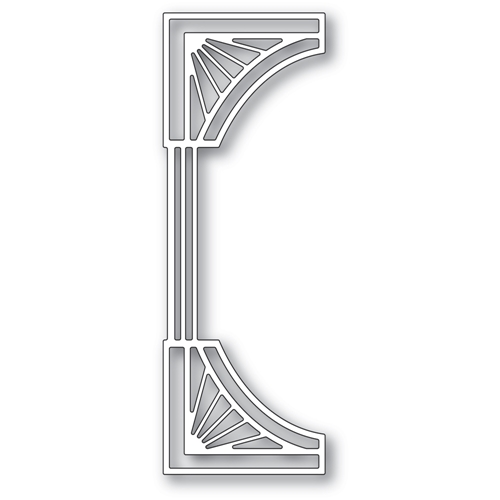 Poppy Stamps REEDED DECO CURVE BORDER Die 2426 Preview Image