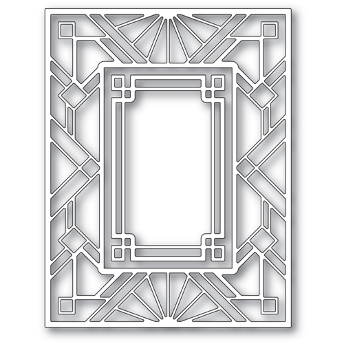 Poppy Stamps GEOMETRIC DECO PLATE Dies 2413 Preview Image