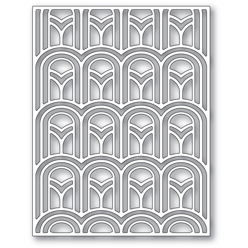 Poppy Stamps ARCHED DECO PLATE Die 2410 Preview Image