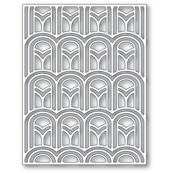 Poppy Stamps ARCHED DECO PLATE Die 2410